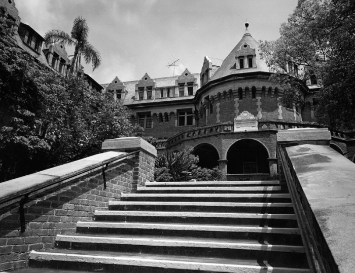 Mary Andrews Clark Memorial Residence, photo from LA Public Library.
