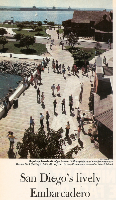 Don Normark's photo of San Diego's Embarcadero, published in Sunset Magazine in 1981.