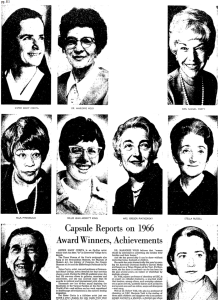 Los Angeles Times Women of the Year, 1966